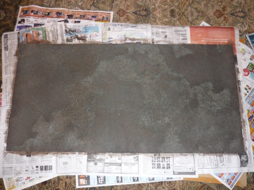 Zuzzy Moorlands mat, after brown wash
